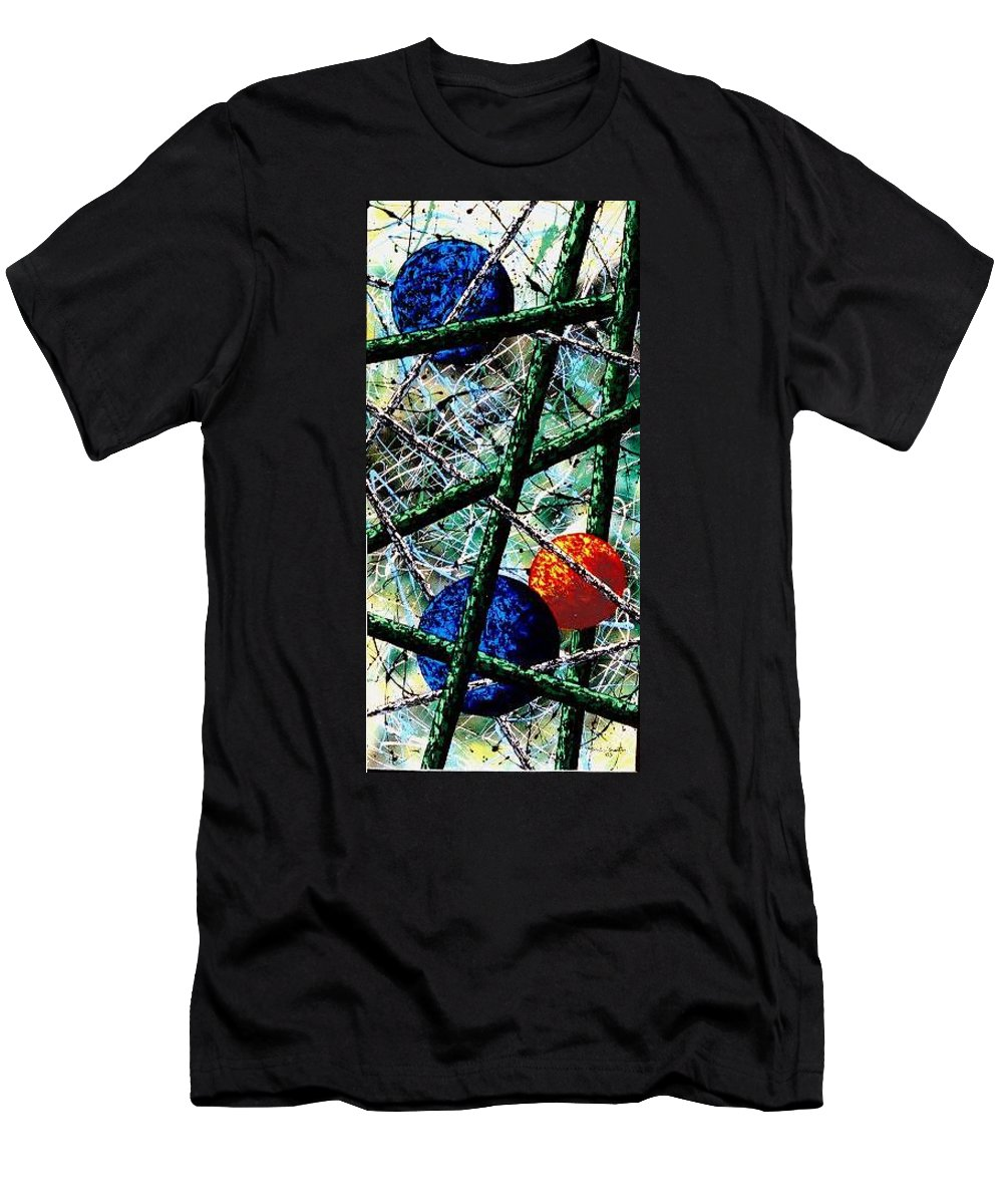 Contemporary / Abstract T-Shirt featuring the painting Space-Time Continuum by Micah Guenther