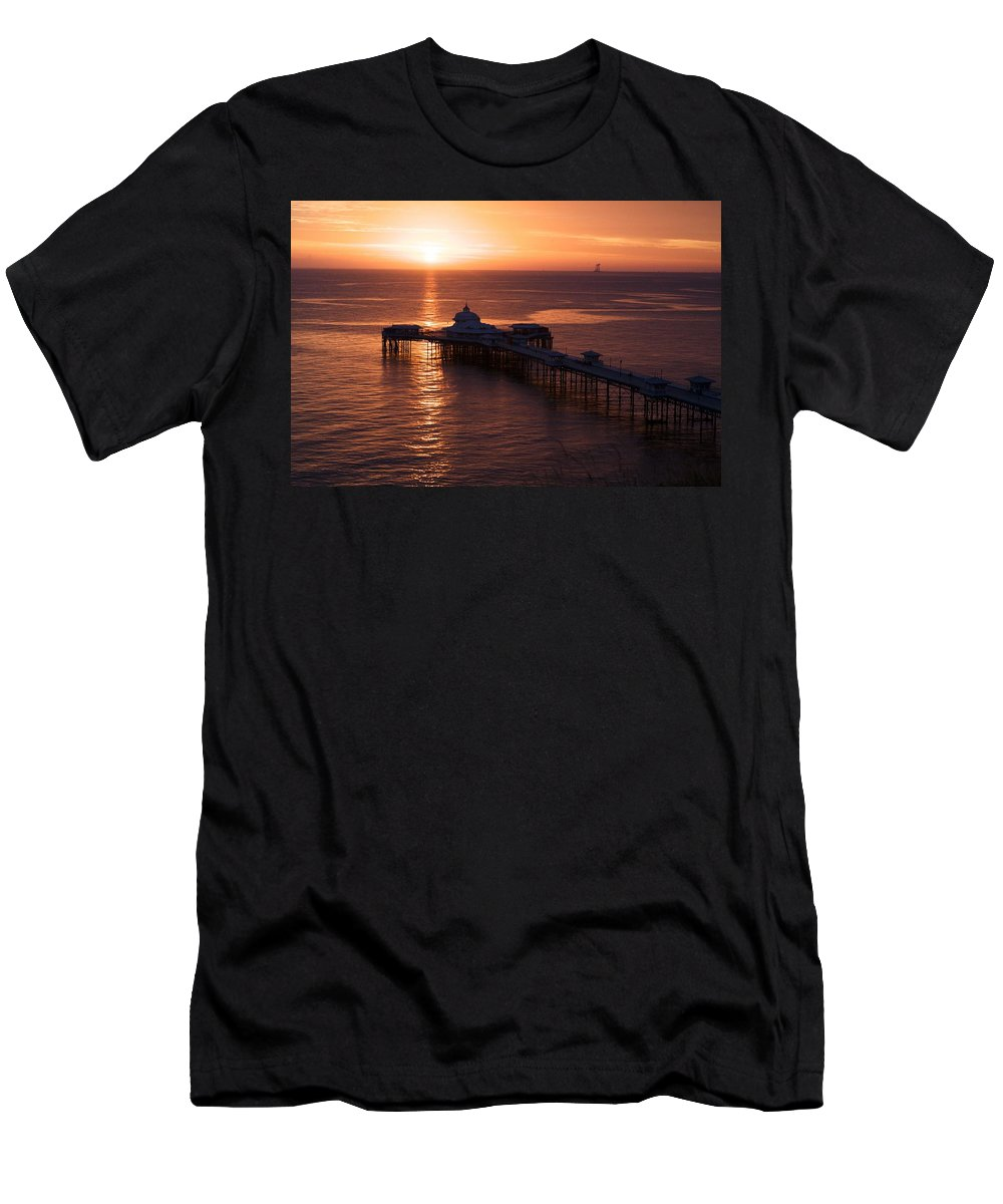 Piers T-Shirt featuring the photograph Sunrise over Llandudno pier 2 by Christopher Rowlands
