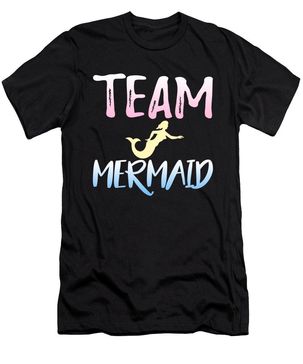 Team Mermaid T-Shirt featuring the digital art Team Mermaid by Jacob Zelazny