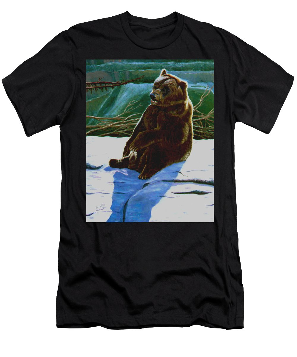 Original Oil On Canvas T-Shirt featuring the painting The Bear by Stan Hamilton