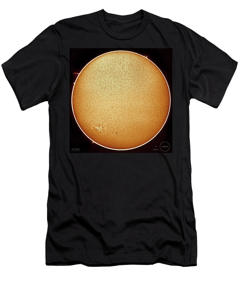 Sun T-Shirt featuring the photograph The Fiery Sun by Prabhu Astrophotography
