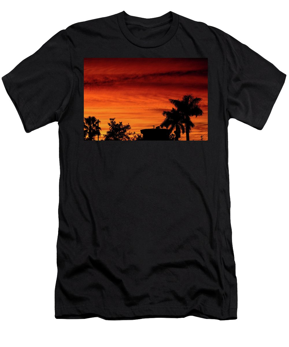 Sunset T-Shirt featuring the photograph The Fire sky by Daniel Cornell