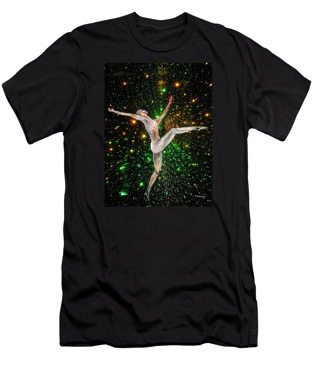 Dance T-Shirt featuring the painting The Light Fantastic Dance and Stars by Tom Conway