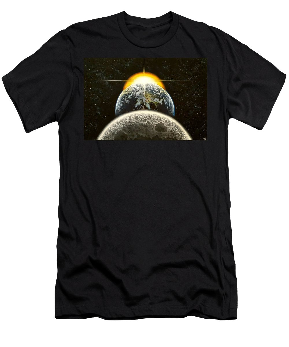 Earth T-Shirt featuring the painting This Is It by Donna L Byers