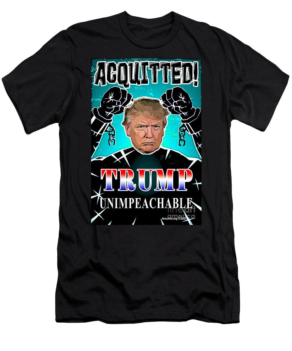 President Trump T-Shirt featuring the digital art Trump Acquitted by Ignatius Graffeo