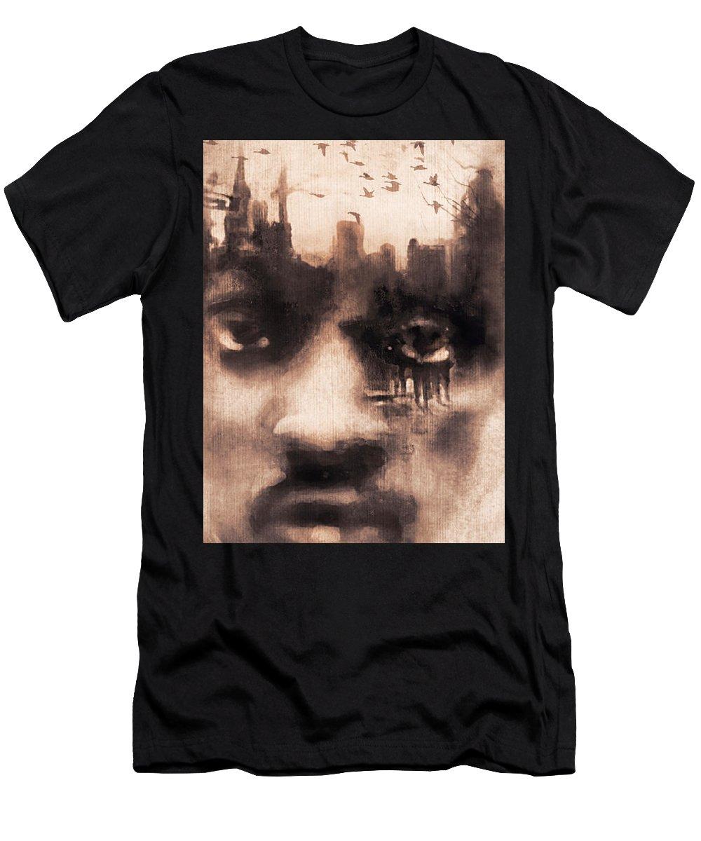 Digital Image T-Shirt featuring the digital art Urban Mindset by Regina Wyatt