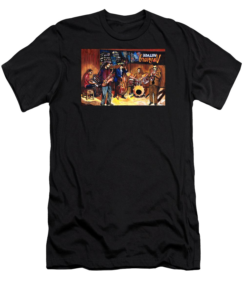 Everett Spruill T-Shirt featuring the painting Village Vanguard by Everett Spruill