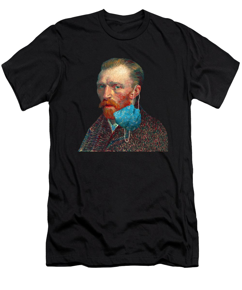 Masked T-Shirt featuring the digital art Vincent Unmasked by Nikki Marie Smith