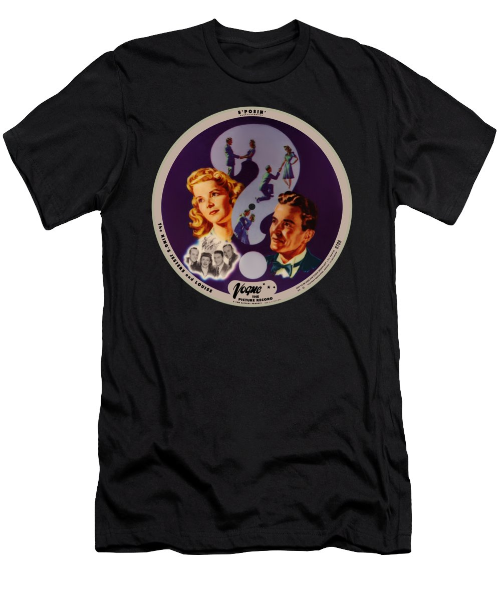Vogue Picture Record T-Shirt featuring the digital art Vogue Record Art - R 708 - P 4 - Square Version by John Robert Beck