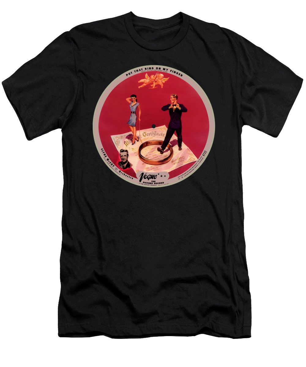 Vogue Picture Record T-Shirt featuring the digital art Vogue Record Art - R 722 - P 8 - Square Version by John Robert Beck