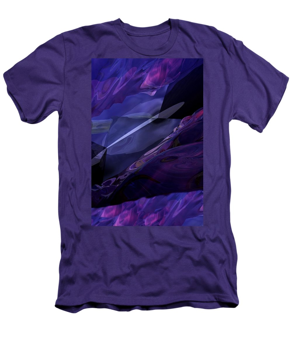Abstract Men's T-Shirt (Athletic Fit) featuring the digital art Abstractbr6-1 by David Lane