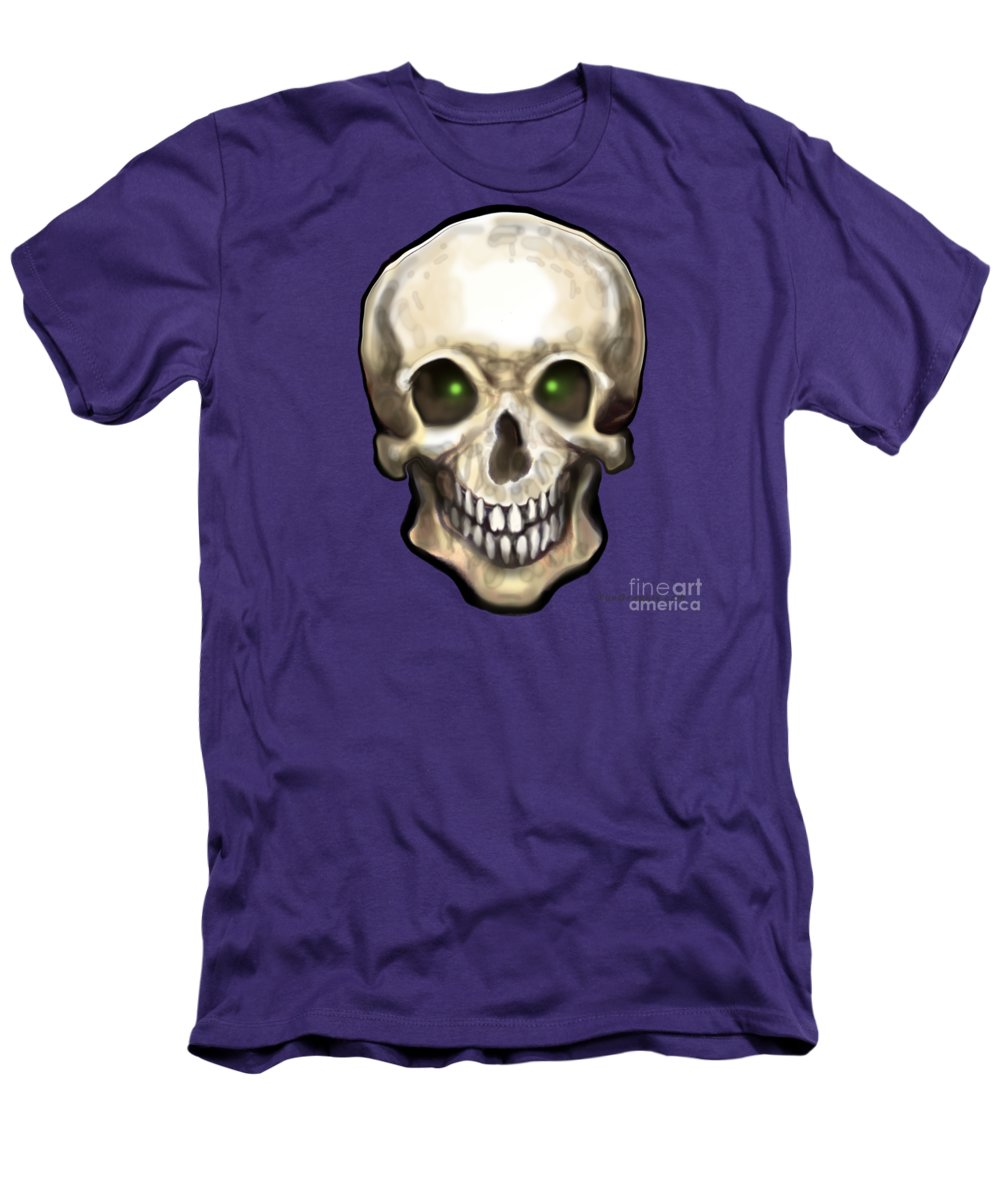 Skull Men's T-Shirt (Athletic Fit) featuring the painting Skull by Kevin Middleton
