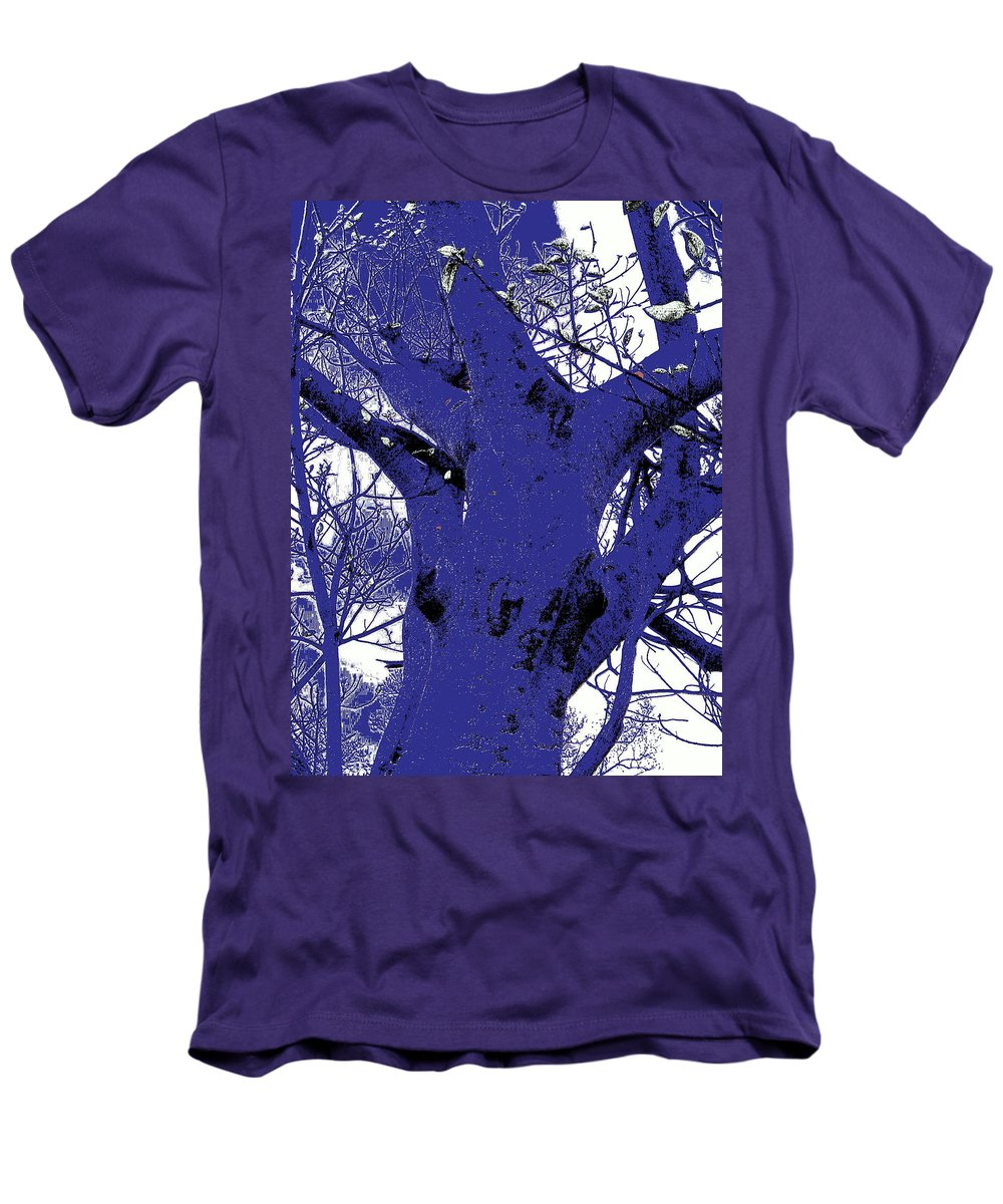 Landscape Men's T-Shirt (Athletic Fit) featuring the photograph Blue Ice by Ed Smith