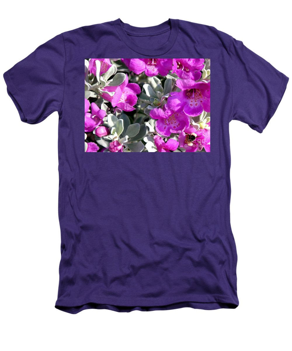Nature Men's T-Shirt (Athletic Fit) featuring the photograph Bottoms Up by Lucyna A M Green