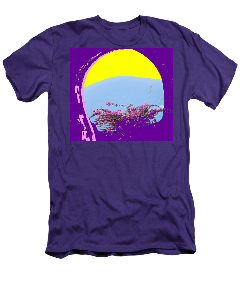 Brimstone Men's T-Shirt (Athletic Fit) featuring the photograph Brimstone Gate by Ian MacDonald
