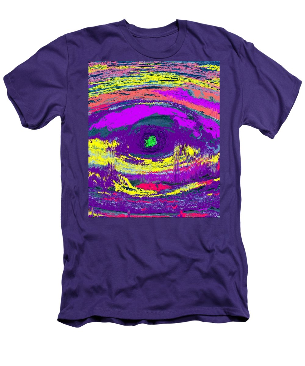 Abstract Men's T-Shirt (Athletic Fit) featuring the digital art Crocodile Eye by Ian MacDonald
