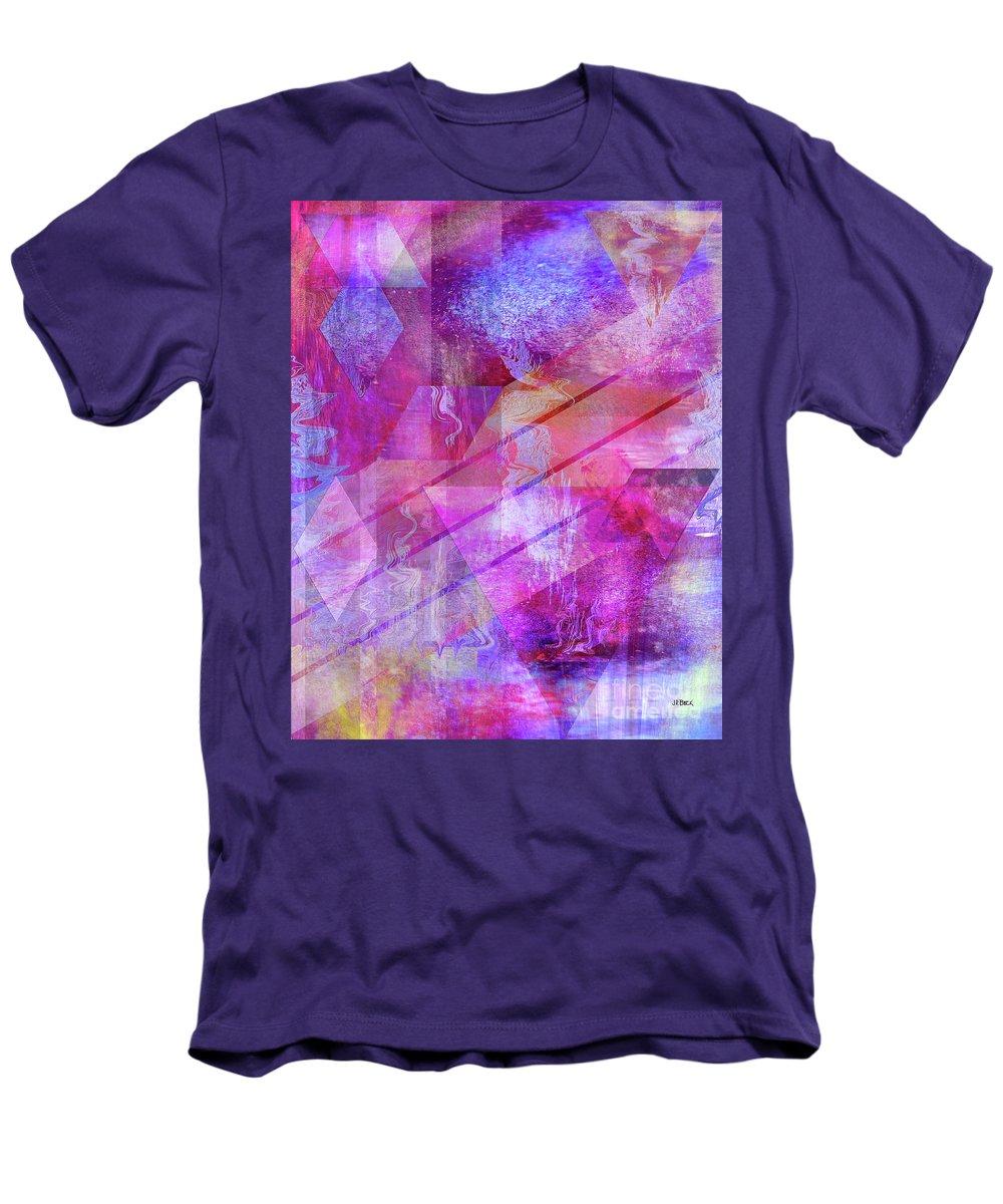 Dragon's Kiss Men's T-Shirt (Athletic Fit) featuring the digital art Dragon's Kiss by John Beck