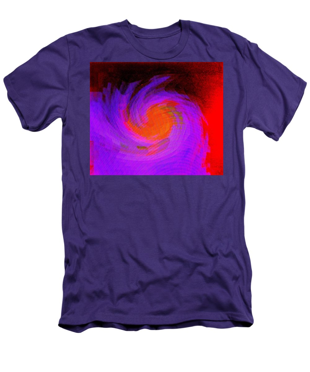 Abstract Men's T-Shirt (Athletic Fit) featuring the digital art Escape by Ian MacDonald