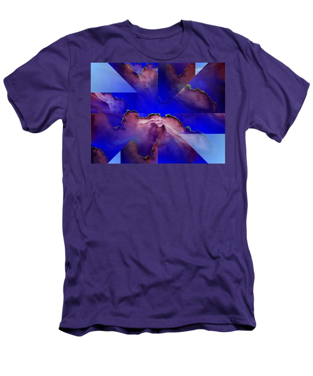 Clouds Men's T-Shirt (Athletic Fit) featuring the digital art Face Cloud Illusion by Tim Allen