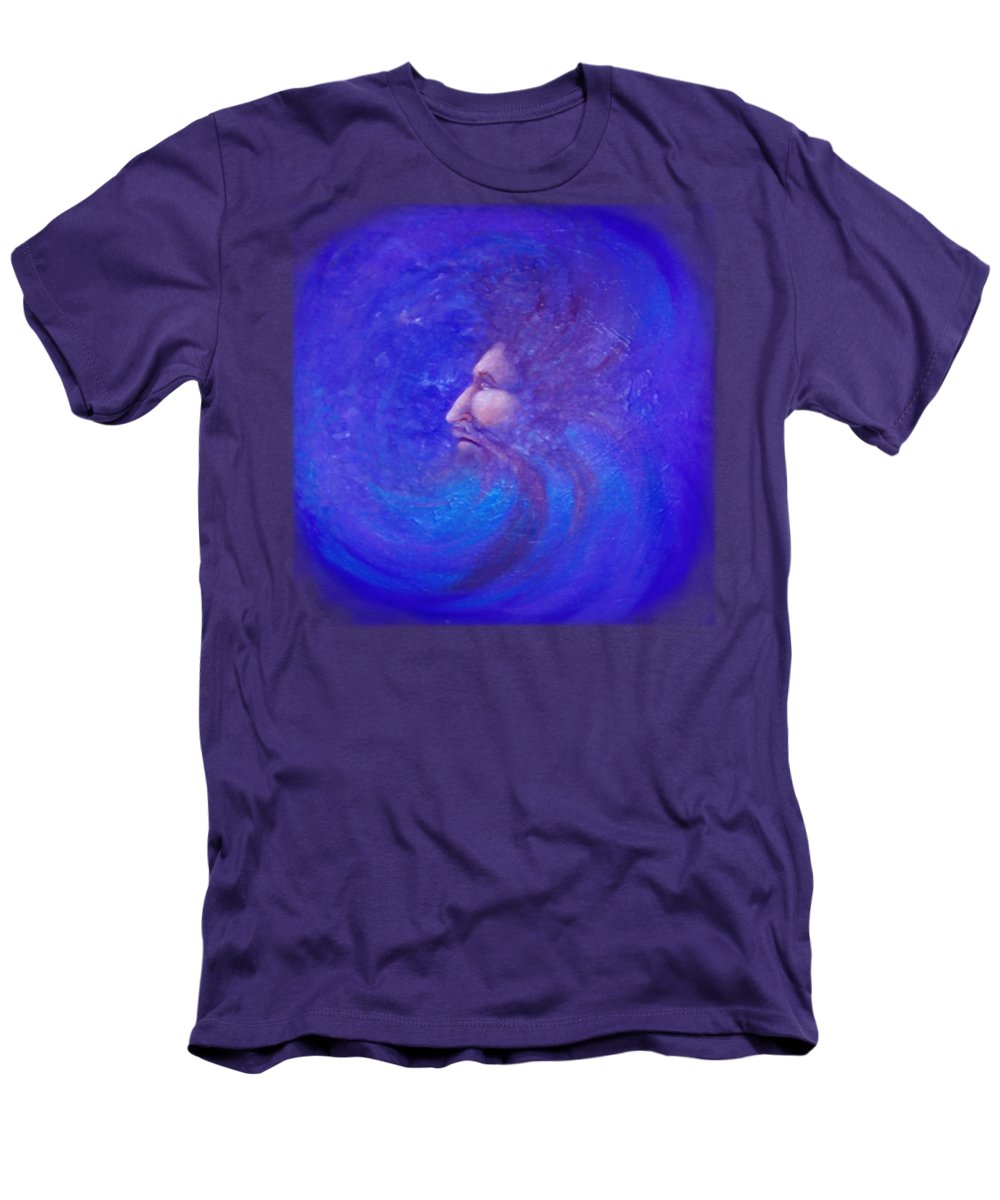 Time Men's T-Shirt (Athletic Fit) featuring the painting Father Time by Kevin Middleton