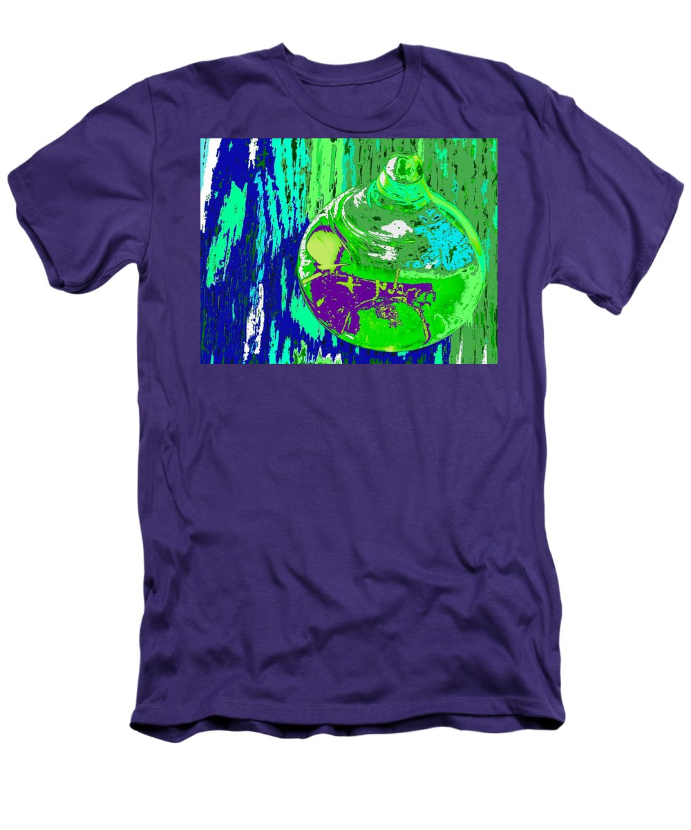 Abstract Men's T-Shirt (Athletic Fit) featuring the photograph Green Whirl by Ian MacDonald