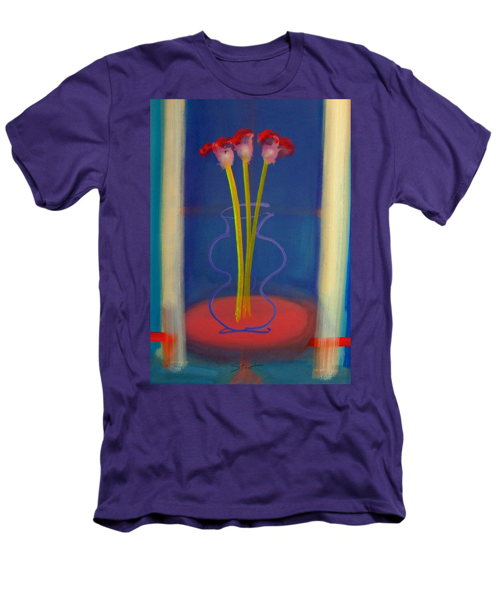 Guitar Men's T-Shirt (Athletic Fit) featuring the painting Guitar Vase by Charles Stuart