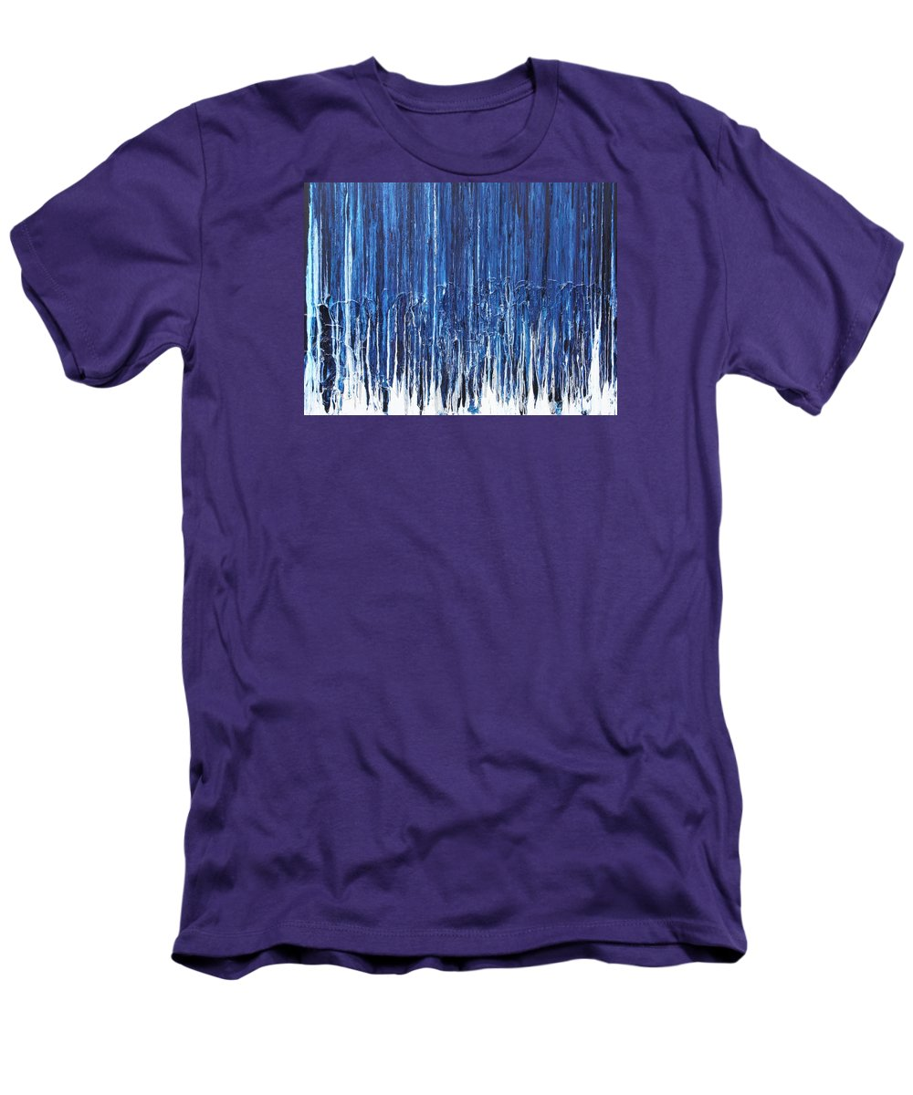 Fusionart Men's T-Shirt (Athletic Fit) featuring the painting Indigo Soul by Ralph White