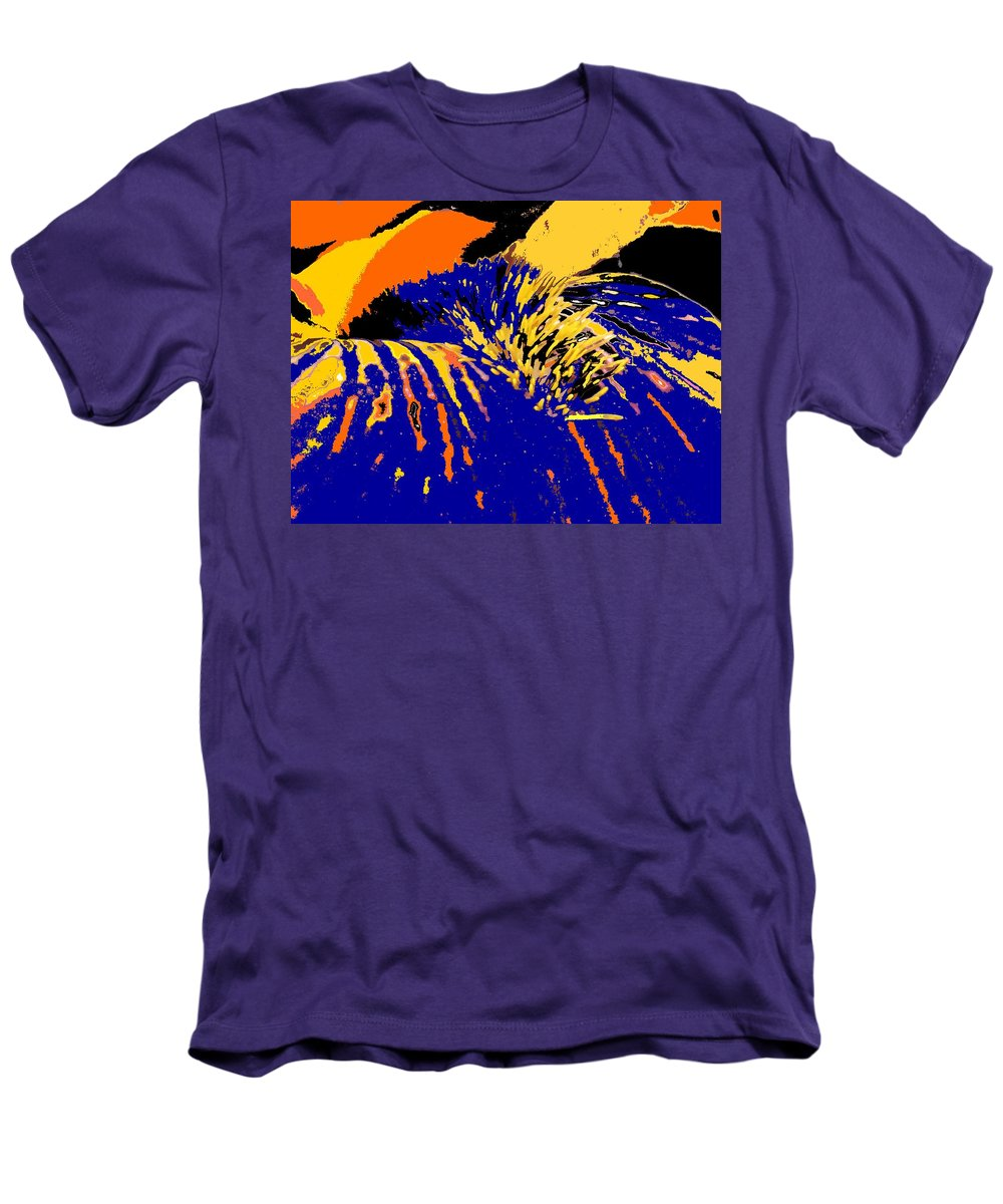 Flower Men's T-Shirt (Athletic Fit) featuring the photograph Iris by Ian MacDonald