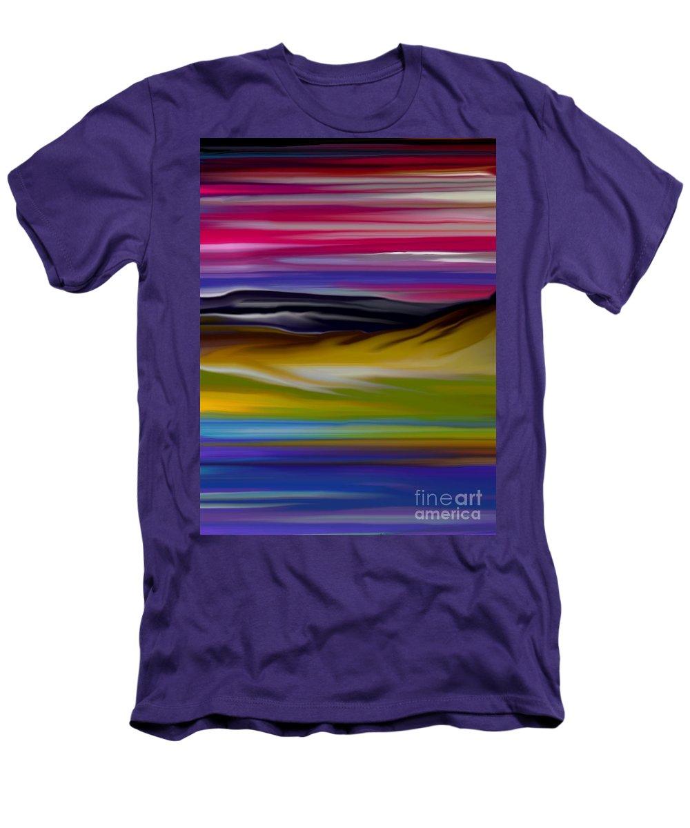 Digital Fantasy Painting Men's T-Shirt (Athletic Fit) featuring the digital art Landscape 7-11-09 by David Lane