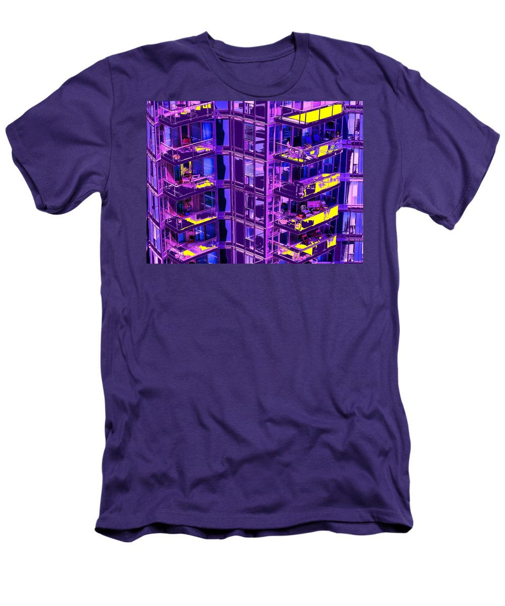 Urban Men's T-Shirt (Athletic Fit) featuring the photograph Living Wall by Ian MacDonald