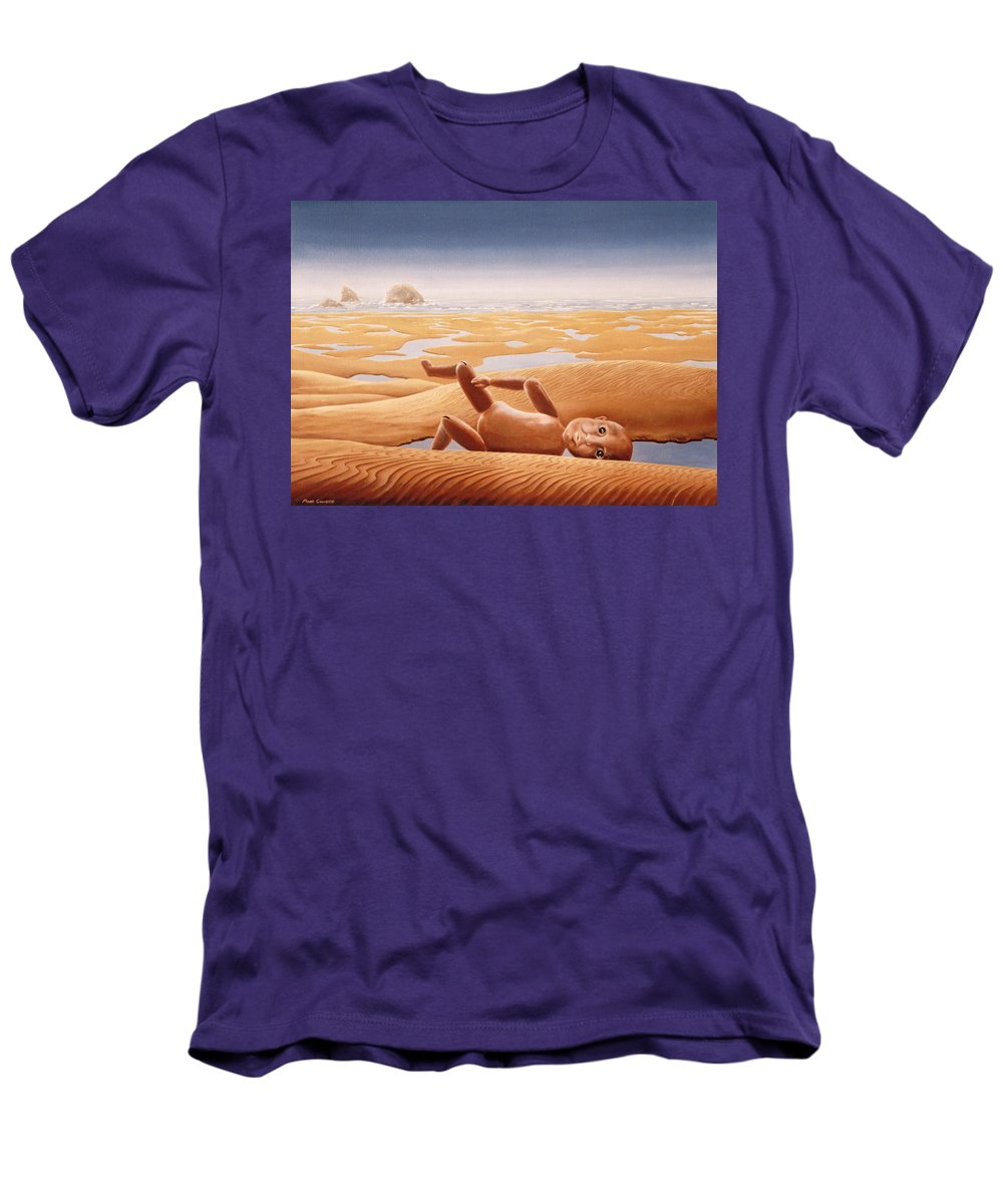 Surreal Men's T-Shirt (Athletic Fit) featuring the painting Lost In A Dream by Mark Cawood
