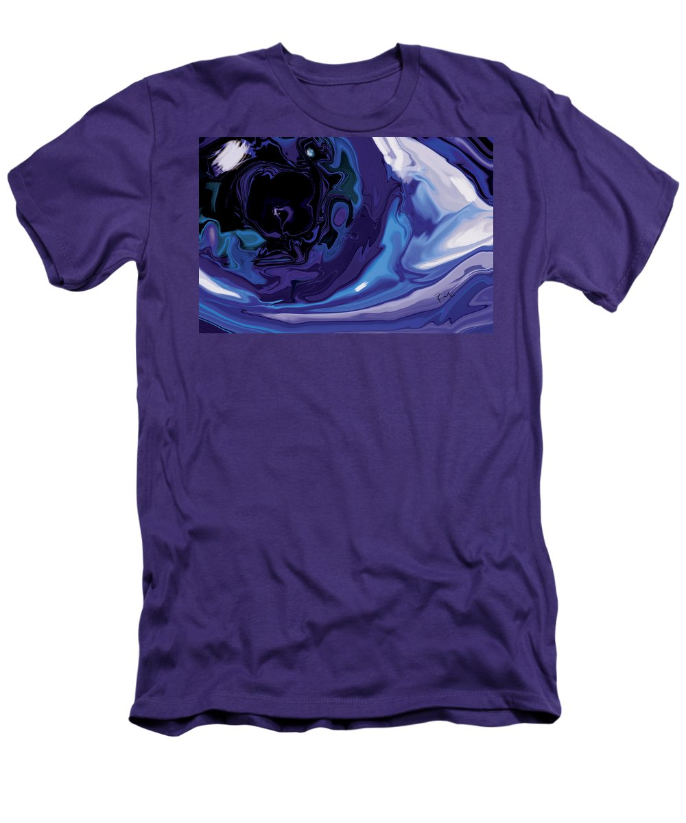 Blue Men's T-Shirt (Athletic Fit) featuring the digital art Lost-in-to-the-eye by Rabi Khan