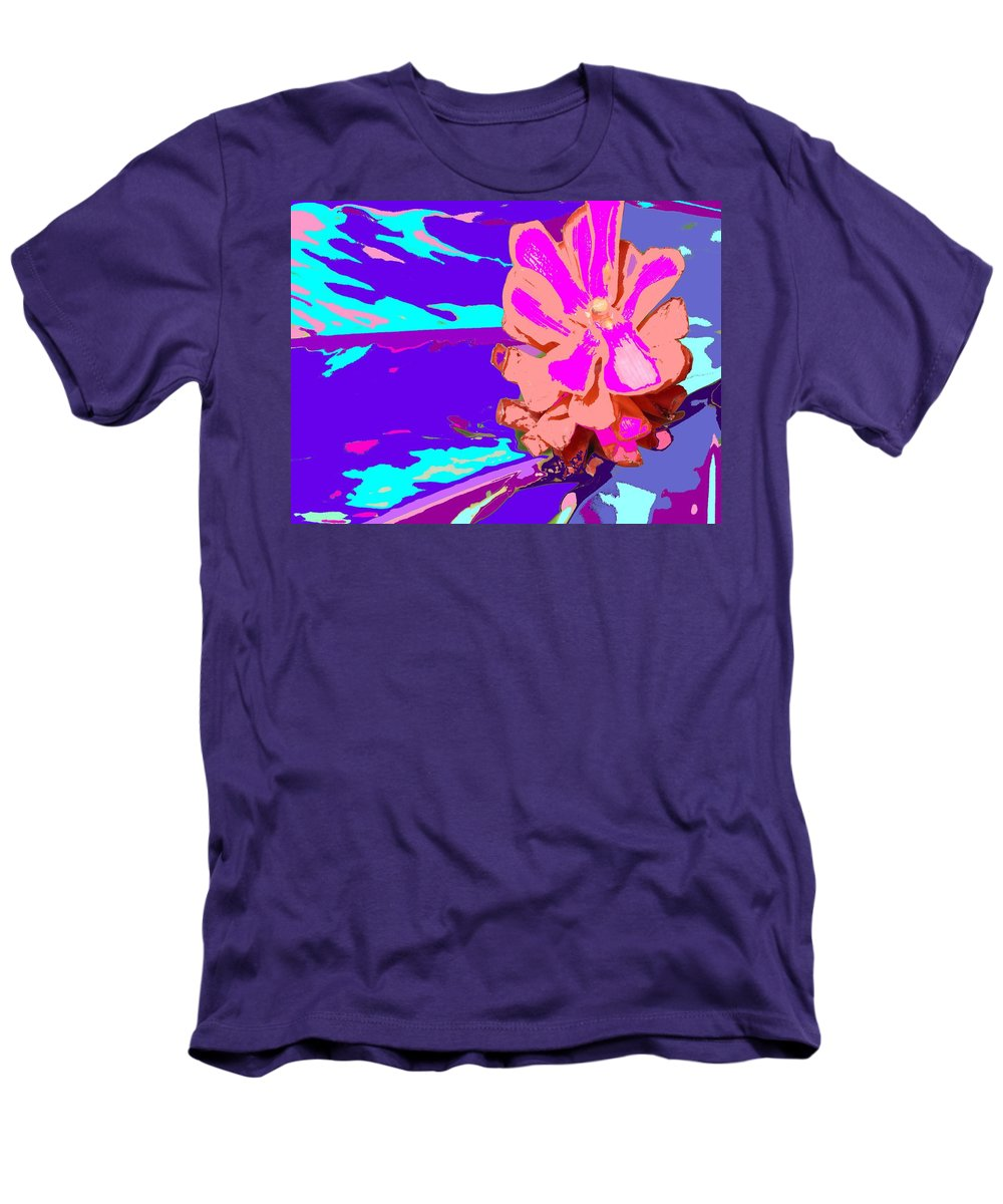 Flower Men's T-Shirt (Athletic Fit) featuring the photograph Mystical Flower by Ian MacDonald