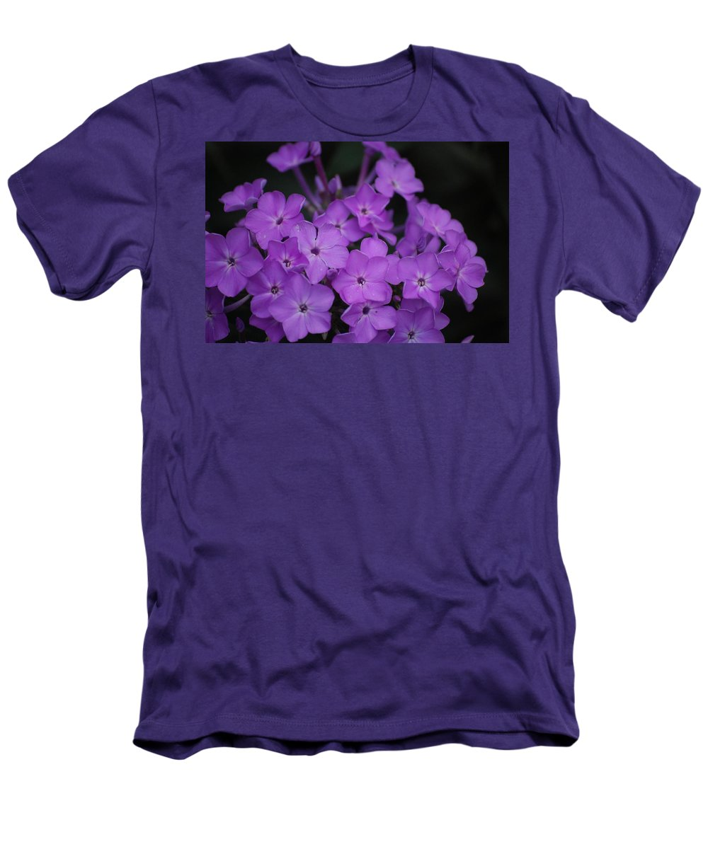 Digital Photo Men's T-Shirt (Athletic Fit) featuring the photograph Purple Blossoms by David Lane