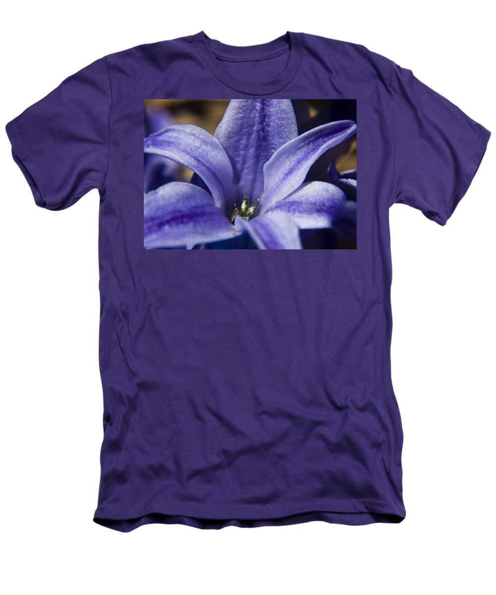 Hyacinth Men's T-Shirt (Athletic Fit) featuring the photograph Purple Hyacinth by Teresa Mucha