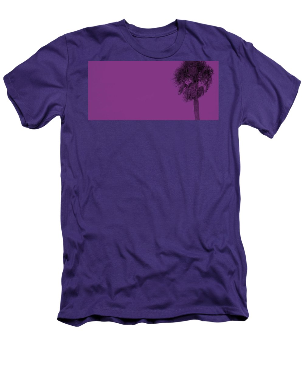Florida Men's T-Shirt (Athletic Fit) featuring the photograph Purple Palm by Ed Smith