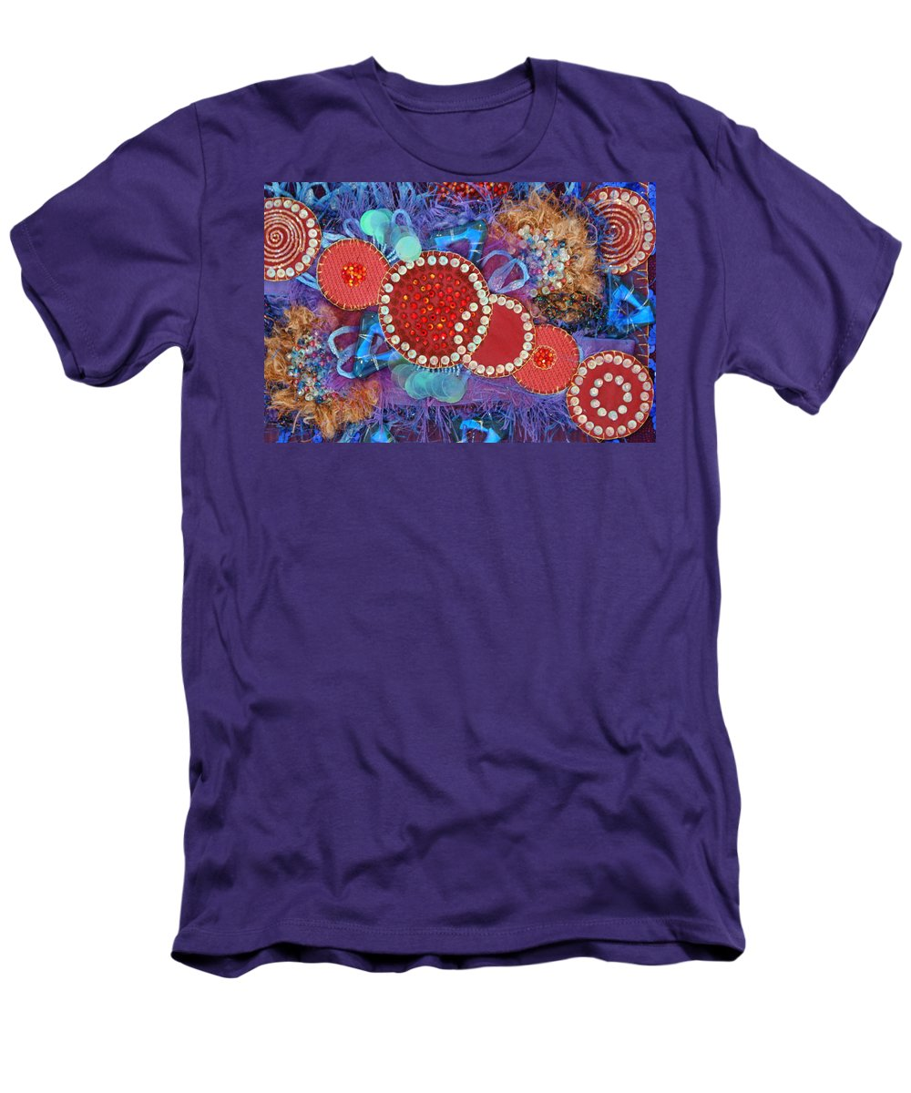 Men's T-Shirt (Athletic Fit) featuring the mixed media Ruby Slippers 1 by Judy Henninger