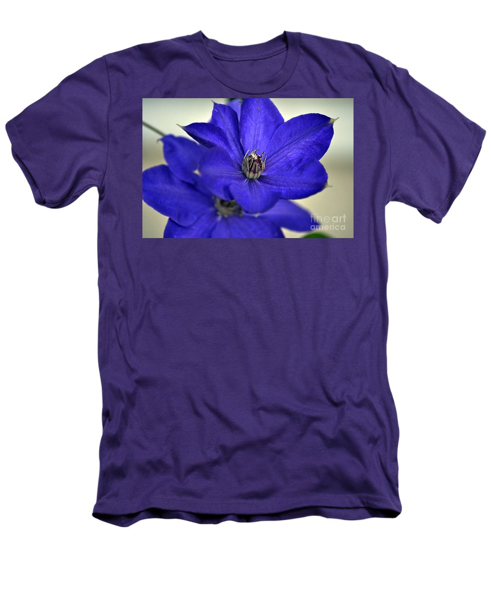 Clay Men's T-Shirt (Athletic Fit) featuring the photograph Sea Of Blue by Clayton Bruster