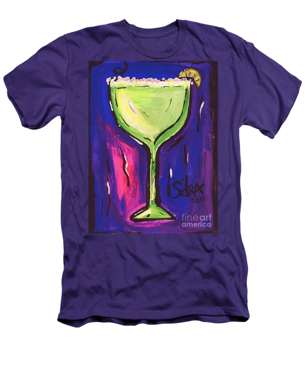 Margarita Men's T-Shirt (Athletic Fit) featuring the painting Sidzart Pop Art Series 2002 Margarita Baby by Sidra Myers