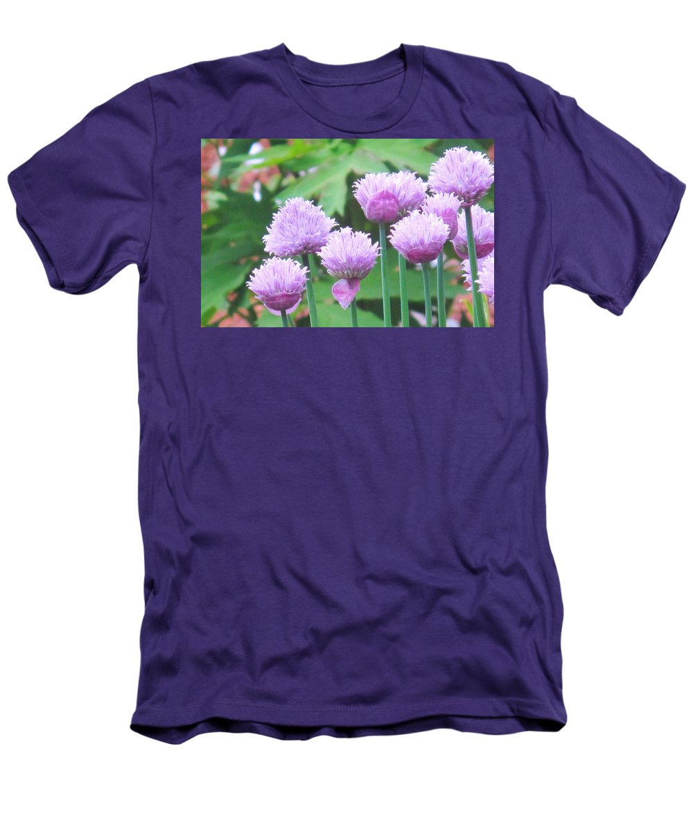 Flower Men's T-Shirt (Athletic Fit) featuring the photograph Stand Tall by Ian MacDonald