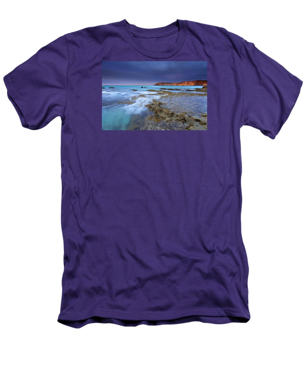 Dawn Men's T-Shirt (Athletic Fit) featuring the photograph Storm Light by Mike Dawson