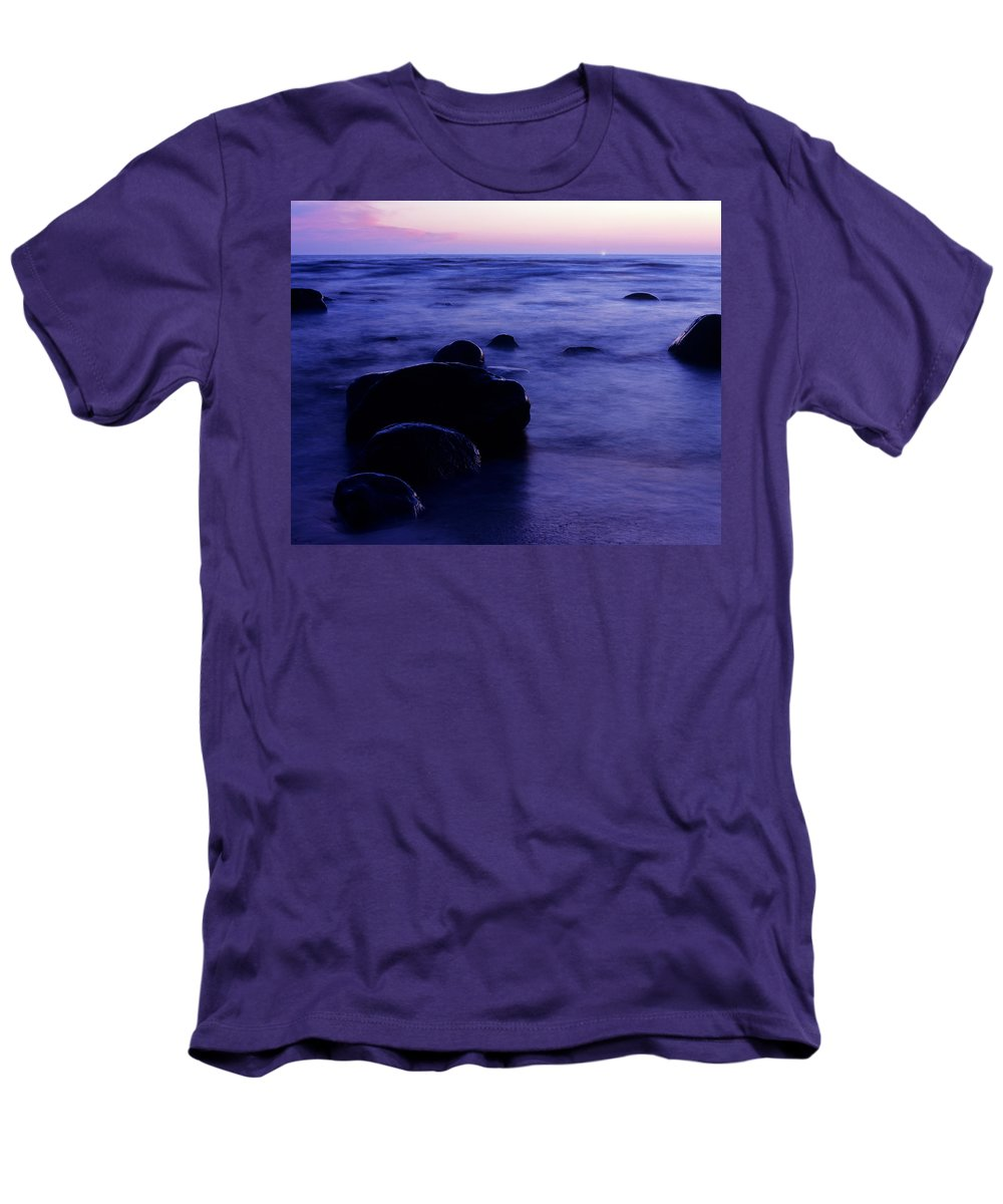 Abstract Men's T-Shirt (Athletic Fit) featuring the photograph The Evening by Konstantin Dikovsky