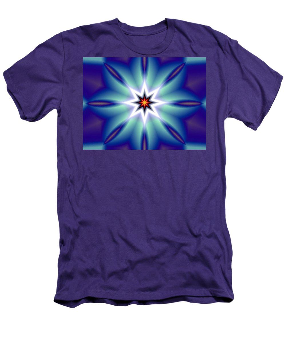 Decorative Men's T-Shirt (Athletic Fit) featuring the digital art The White Star by Oscar Basurto Carbonell