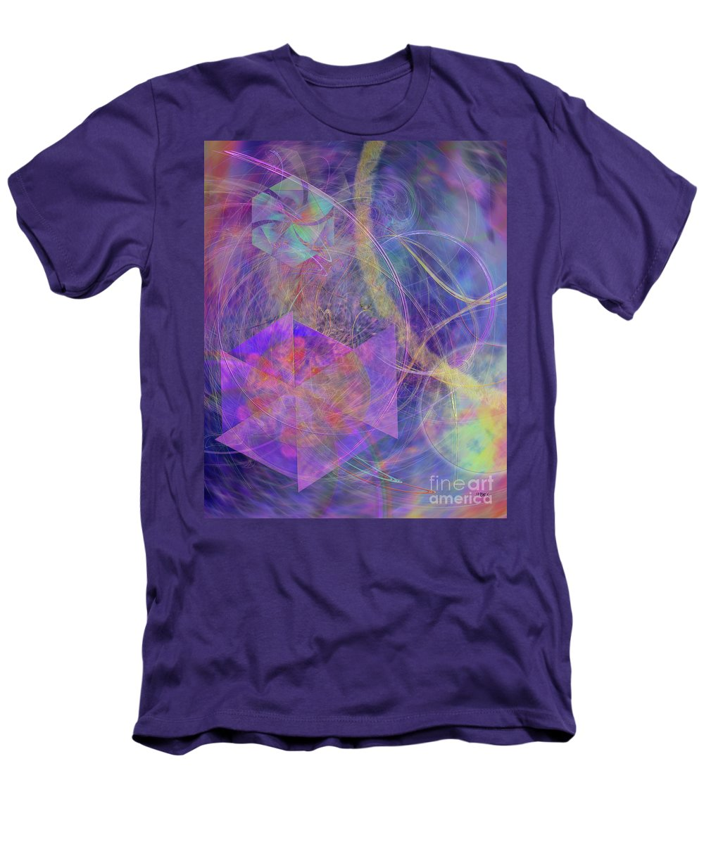 Turbo Blue Men's T-Shirt (Athletic Fit) featuring the digital art Turbo Blue by John Beck