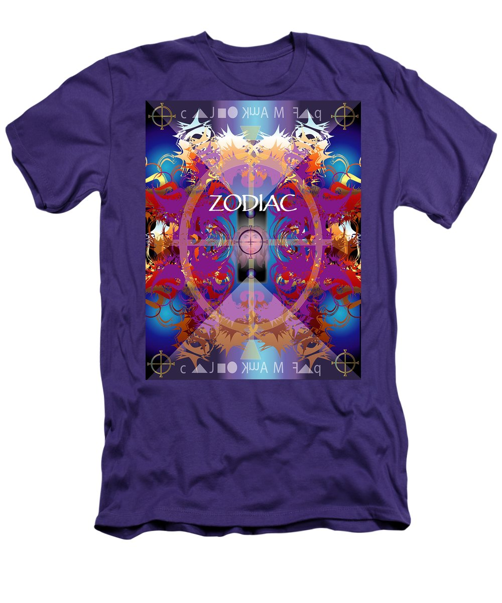 Abstaract Men's T-Shirt (Athletic Fit) featuring the digital art Zodiac 2 by George Pasini