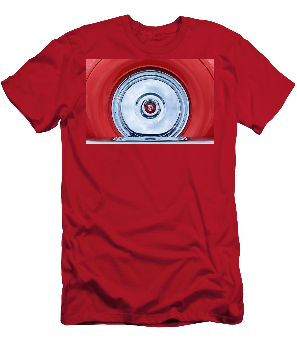 1956 Ford Thunderbird Spare Tire Emblem Men's T-Shirt (Athletic Fit) featuring the photograph 1956 Ford Thunderbird Spare Tire Emblem by Jill Reger