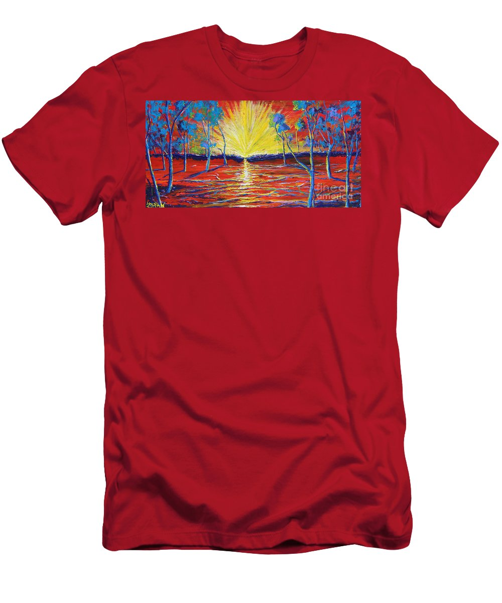 Landscape Men's T-Shirt (Athletic Fit) featuring the painting All Is One by Stefan Duncan
