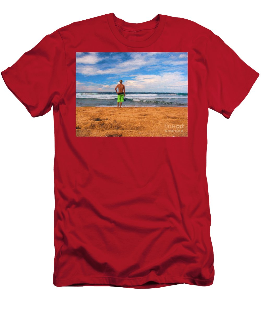 Surf T-Shirt featuring the photograph Anticipation by Sheila Smart Fine Art Photography