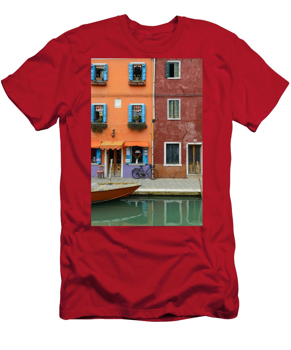 Ancient Men's T-Shirt (Athletic Fit) featuring the photograph Burano Italy by Brandon Bourdages