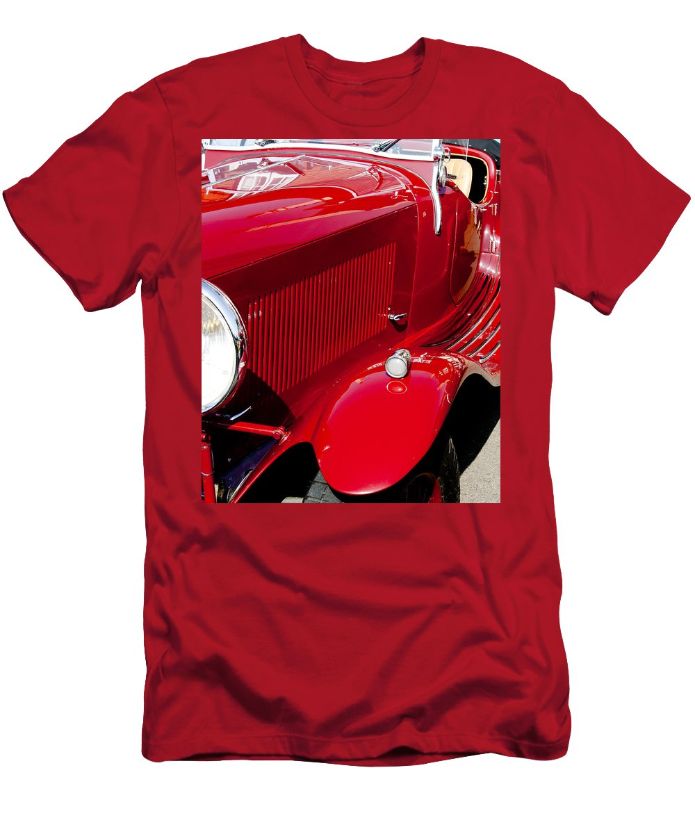 Red Men's T-Shirt (Athletic Fit) featuring the photograph Classic Curves by Peter Lloyd
